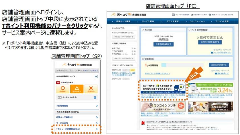 Tポイント申込管理画面